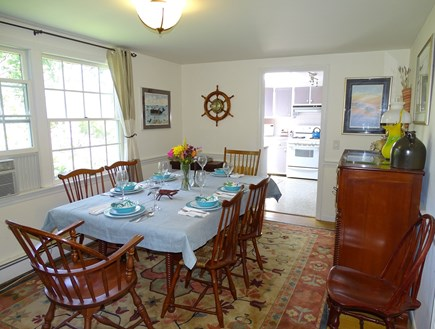 East Dennis Cape Cod vacation rental - Dining room seats 8