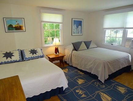 East Dennis Cape Cod vacation rental - Second Bedroom with one queen- sized and one full-sized bed