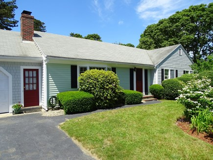 East Dennis Cape Cod vacation rental - House with front yard gardens and two garage spaces