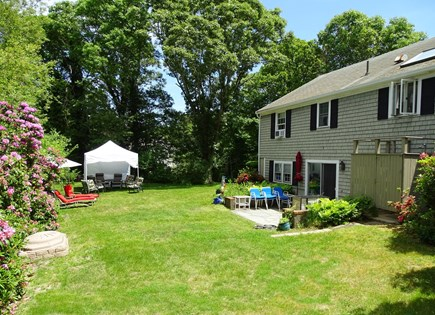 East Dennis Cape Cod vacation rental - Private lawn area with outside shower
