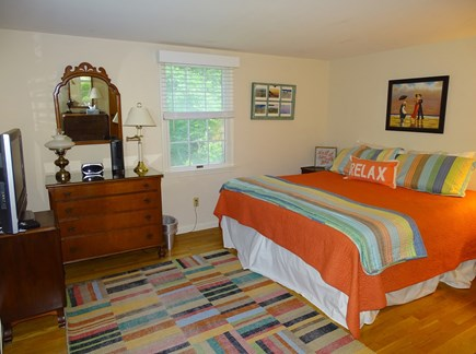 East Dennis Cape Cod vacation rental - Master Bedroom with king-sized bed & bath