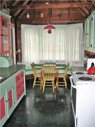 Wellfleet Cape Cod vacation rental - Galley style Kitchen with Bay Window
