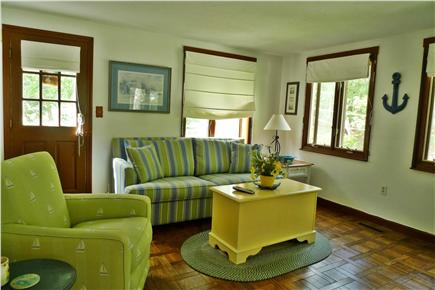 Harwich Cape Cod vacation rental - Family room w/French doors to screened porch