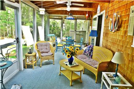 Harwich Cape Cod vacation rental - Enjoy a meal or card game under ceiling fans on sun porch