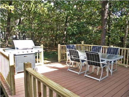 Eastham Cape Cod vacation rental - Large, sunny deck overlooks private back yard