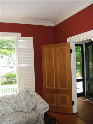 Yarmouthport Cape Cod vacation rental - Comfortable living room with period details