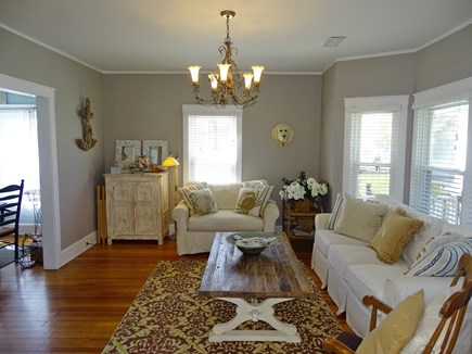 Dennis Port Cape Cod vacation rental - Spacious living room, opens to dining room