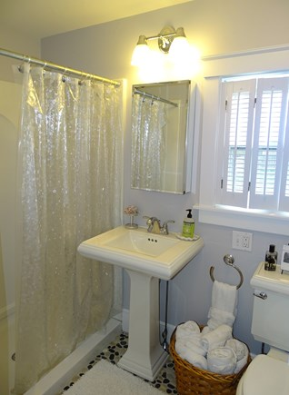 Dennis Port Cape Cod vacation rental - Main floor bathroom with shower