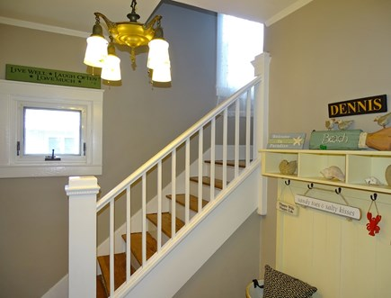 Dennis Port Cape Cod vacation rental - Head upstairs to three bedrooms, full bathroom
