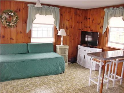 Dennisport Cape Cod vacation rental - Extra sitting room with King/2 Twin Trundle bed and cable TV
