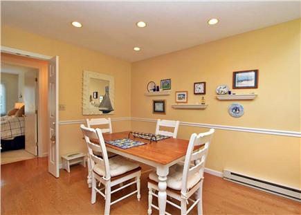 Brewster Cape Cod vacation rental - Dining Room can seat 6 when bench is added in place