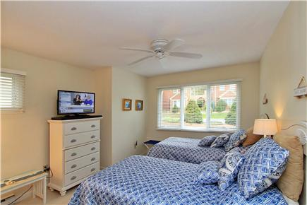 Brewster Cape Cod vacation rental - Downstairs bedroom has lots of privacy, ceiling fan & 27'' TV