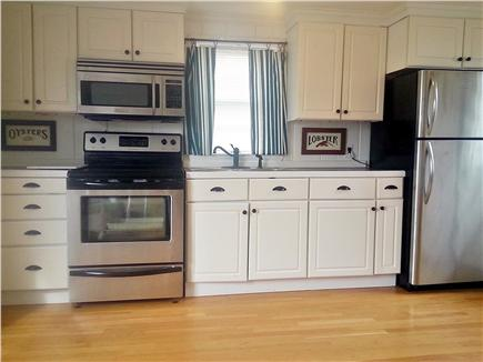 On Falmouth Harbor, Desirable  Cape Cod vacation rental - Eat-in kitchen with stainless steel appliances.