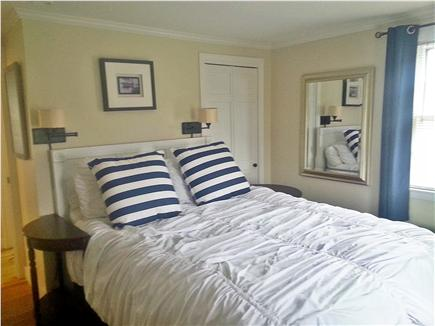 On Falmouth Harbor, Desirable  Cape Cod vacation rental - Master bedroom with ocean views, cable tv, bureaus, closet & AC.