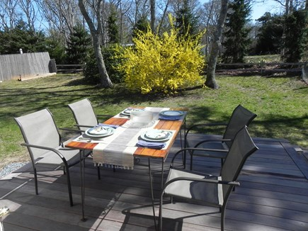 Harwich Cape Cod vacation rental - Outside dining on deck