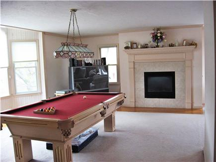 Harwich Port Cape Cod vacation rental - Play a game of pool or watch tv in oversized family room