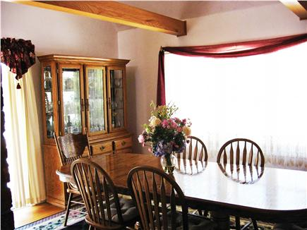 Harwich Port Cape Cod vacation rental - Dining room seats 8 - 10 with sliders to deck and grill