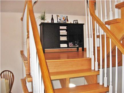 Harwich Port Cape Cod vacation rental - Stairway from main floor to master bedroom and loft