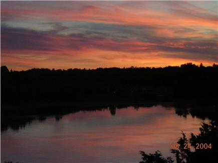 Orleans Cape Cod vacation rental - Typical sunset view from deck