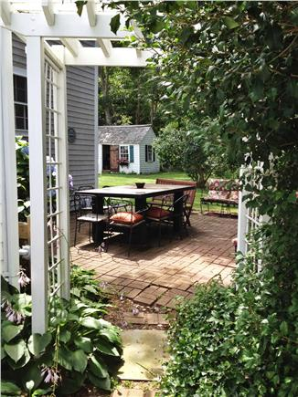 Orleans Cape Cod vacation rental - Step out to the patio and side yard to barbecue.