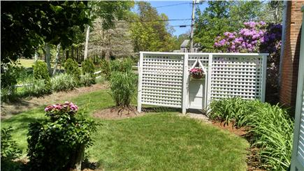 Orleans Cape Cod vacation rental - Garden & side yard nearest outside shower