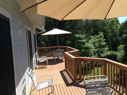 West Falmouth Cape Cod vacation rental - Expansive full length deck overlooking the beautiful Marsh.