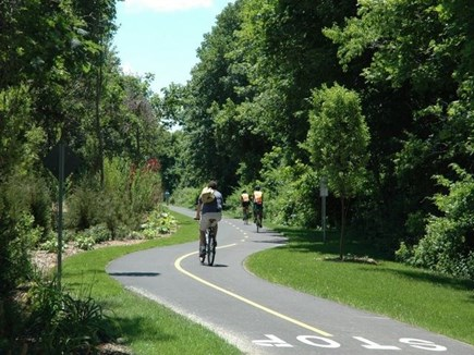 West Falmouth Cape Cod vacation rental - The Incredible Bike Path directly abuts the back of property