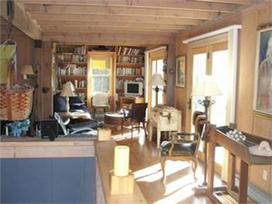 West Falmouth Cape Cod vacation rental - Open living area with French doors to deck