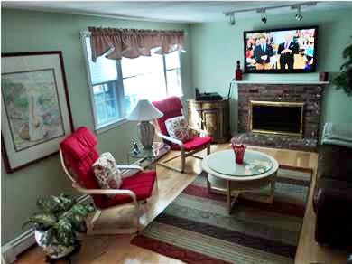 Sandwich Cape Cod vacation rental - Living room .