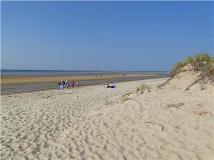 Brewster, Linnell Landing beach area, Br Cape Cod vacation rental - Linnell Landing beach at low tide; swim, walk, explore