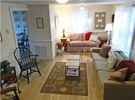 Brewster, Linnell Landing beach area, Br Cape Cod vacation rental - Comfortable living room opens to kitchen and dining