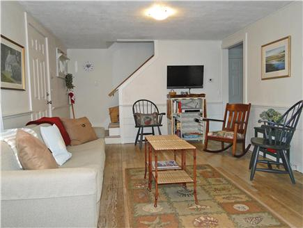 Brewster, Linnell Landing beach area, Br Cape Cod vacation rental - Living room with TV