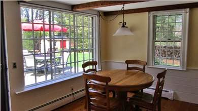 East Dennis Cape Cod vacation rental - Dining Room off Kitchen opens to Deck