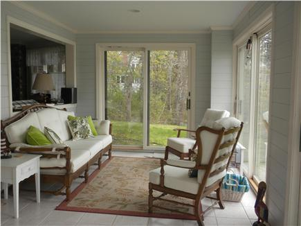 Cotuit Cotuit vacation rental - Downstairs sitting area overlooking the bay