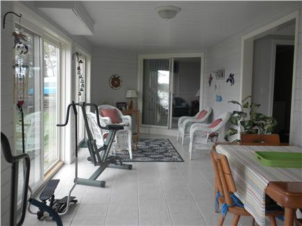 Cotuit Cotuit vacation rental - Downstairs dining, sitting and exercise area overlooking the bay