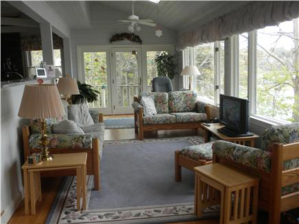 Cotuit Cotuit vacation rental - Upstairs sitting area overlooking the bay