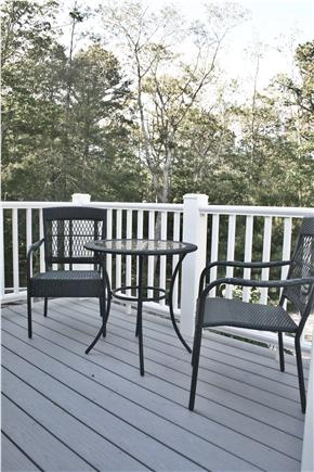 South Orleans Cape Cod vacation rental - Deck off Kitchen Overlooking Gardens