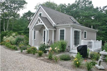 South Orleans Cape Cod vacation rental - Deck off Kitchen with Perennial Gardens