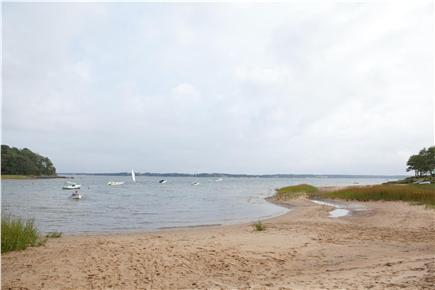 South Orleans Cape Cod vacation rental - View of Beach from Right of Dock