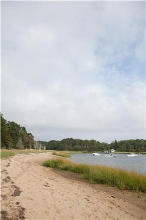 South Orleans Cape Cod vacation rental - View Down Beach from Left of Dock
