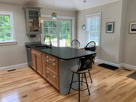 South Orleans Cape Cod vacation rental - Kitchen with Hand Painted Table and Hand Blown Glass Lights