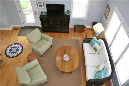 South Orleans Cape Cod vacation rental - Living Area with Vaulted Ceiling, Cable TV & Wireless Internet