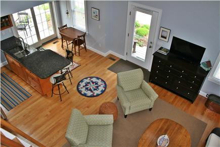 South Orleans Cape Cod vacation rental - Overhead View to Kitchen & Living Area