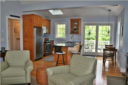 South Orleans Cape Cod vacation rental - Living Area opens to Kitchen & Deck