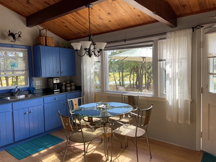 Wellfleet Cape Cod vacation rental - Full eat-in kitchen with a view of the marsh and bay.