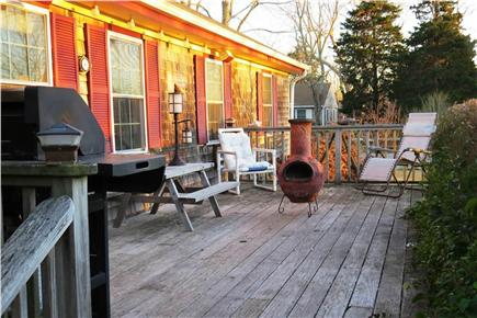 N. Eastham Cape Cod vacation rental - Relax, grill and dine on the deck