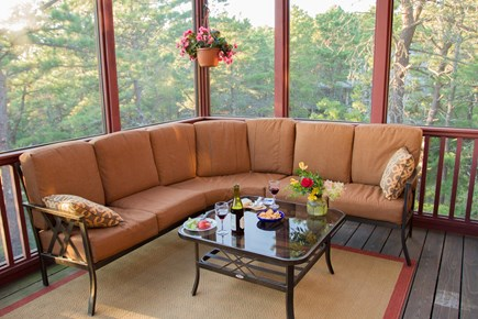South Truro MA Cape Cod vacation rental - Porch seating is comfortable for sleeping too, weather permitting