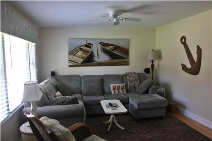 Mashpee Cape Cod vacation rental - Spacious family room with Direct TV and DVD.