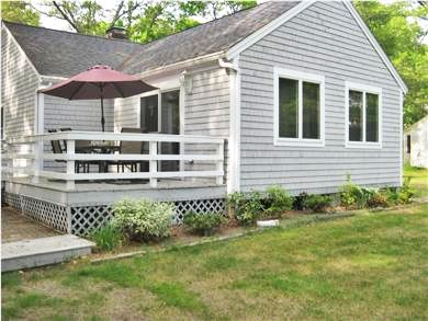 Falmouth Cape Cod vacation rental - Relax on the deck as the cook grills on the patio below.