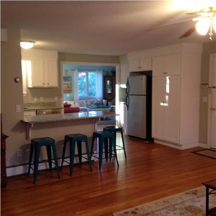 Falmouth Cape Cod vacation rental - The new kitchen is open to the living room with dining area.